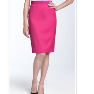 Kate Spade Skirt the Rules Pink Satin Pencil Skirt